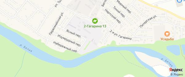 Речной переулок на карте Гавердовского хутора с номерами домов