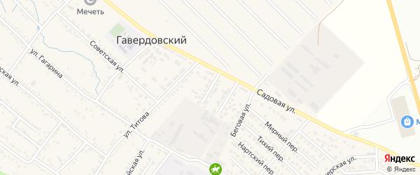 Спортивная улица на карте Гавердовского хутора с номерами домов