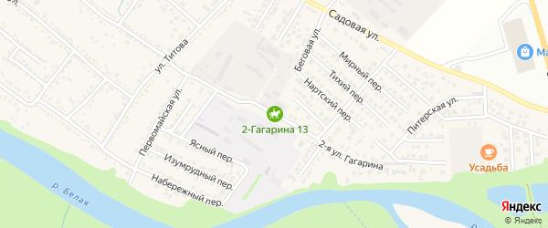 Гагарина 2-я улица на карте Гавердовского хутора с номерами домов