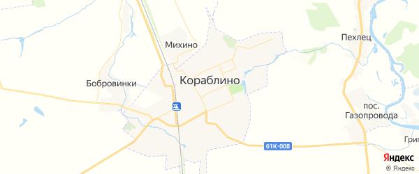 Карта Кораблино с районами, улицами и номерами домов: Кораблино на карте России