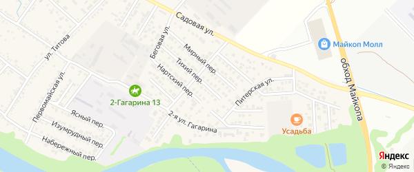 Тихий переулок на карте Гавердовского хутора с номерами домов