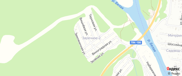 Терновая улица на карте садового некоммерческого товарищества Заречного-2 с номерами домов