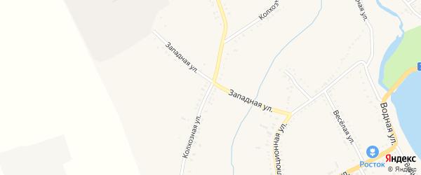 Колхозная улица на карте Гиагинской станицы с номерами домов