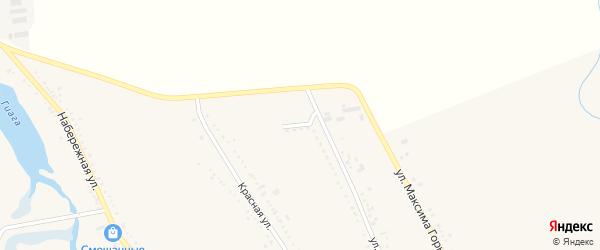 Северная улица на карте Гиагинской станицы с номерами домов