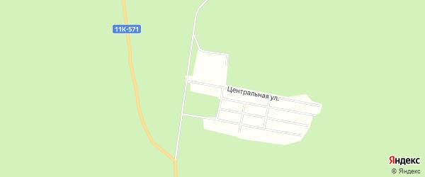 Территория СОТ Березка на карте Плесецкого района с номерами домов