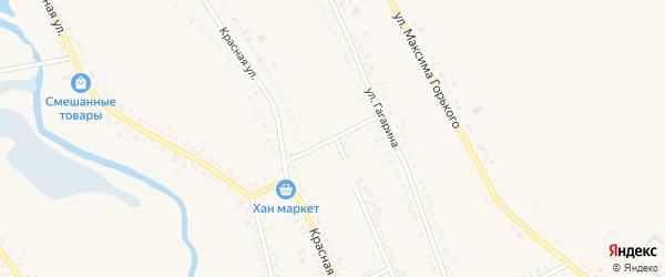 Мельничный переулок на карте Гиагинской станицы с номерами домов