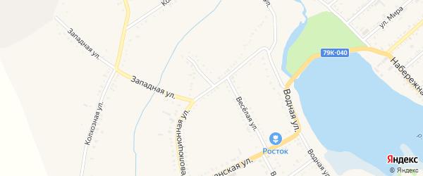 Революционная улица на карте Гиагинской станицы с номерами домов