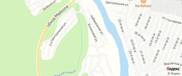 Центральная 1-я улица на карте садового некоммерческого товарищества Лесная Поляна с номерами домов
