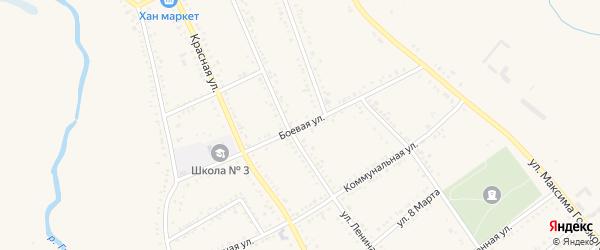 Боевая улица на карте Гиагинской станицы с номерами домов