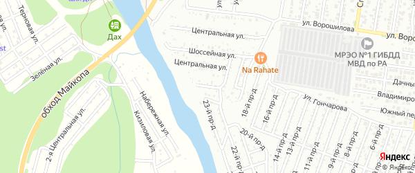 Набережная улица на карте садового некоммерческого товарищества Садовода-3 с номерами домов