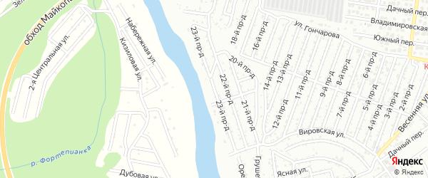 23-й проезд на карте садового некоммерческого товарищества Весны с номерами домов
