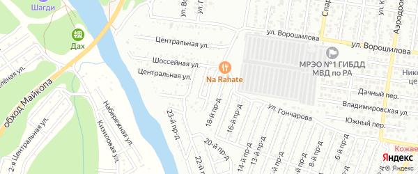 19-й проезд на карте садового некоммерческого товарищества Весны с номерами домов
