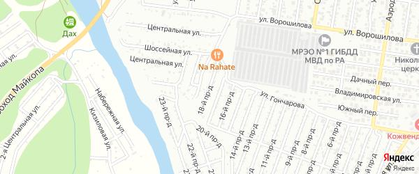 18-й проезд на карте садового некоммерческого товарищества Проектировщика с номерами домов