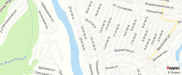 21-й проезд на карте садового некоммерческого товарищества Весны с номерами домов