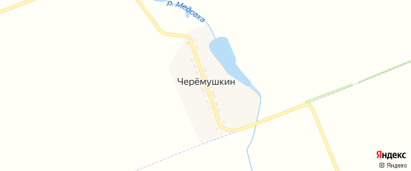 Бригадная улица на карте поселка Черемушкина с номерами домов