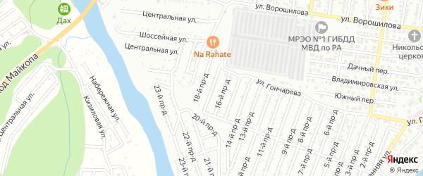17-й проезд на карте садового некоммерческого товарищества Весны с номерами домов