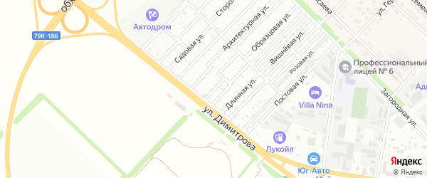 Дерибасовская улица на карте садового некоммерческого товарищества Звезды с номерами домов