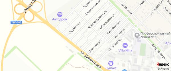 Образцовая улица на карте садового некоммерческого товарищества Звезды с номерами домов