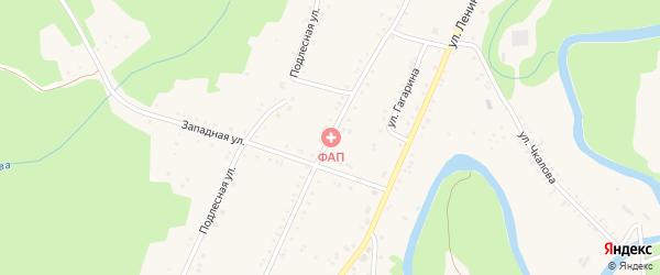Первомайская улица на карте поселка Усти-Сахрая с номерами домов