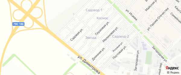 Лесная улица на карте садового некоммерческого товарищества Звезды с номерами домов