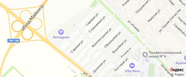 Фабричная улица на карте садового некоммерческого товарищества Звезды с номерами домов