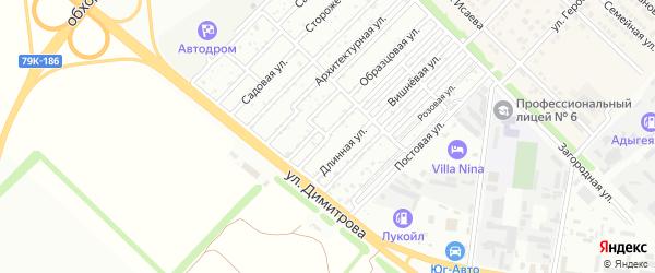 Постовая улица на карте садового некоммерческого товарищества Звезды с номерами домов