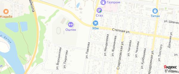 Улица Павлова на карте Майкопа с номерами домов