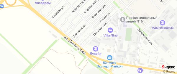 Восточная улица на карте садового некоммерческого товарищества Звезды с номерами домов