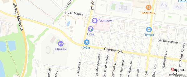 Улица Пугачева на карте Майкопа с номерами домов