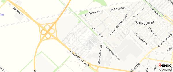 Карта садового некоммерческого товарищества Лесника города Майкопа в Адыгее с улицами и номерами домов