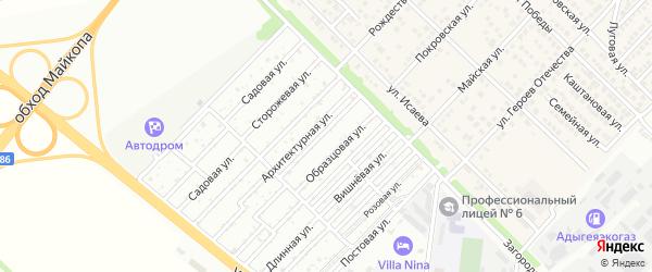 Образцовая улица на карте садового некоммерческого товарищества Лесника с номерами домов