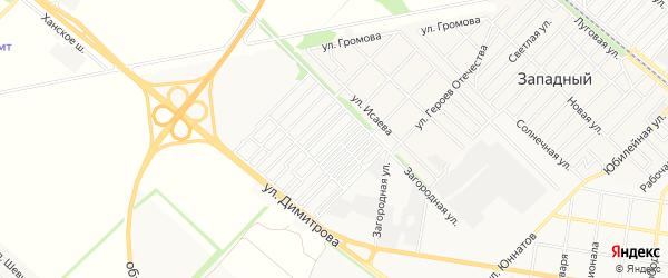 Карта садового некоммерческого товарищества Лесника в Адыгее с улицами и номерами домов