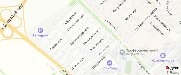 Центральная улица на карте садового некоммерческого товарищества Лесника с номерами домов
