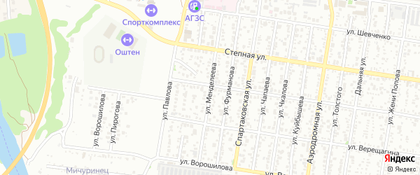 Улица Менделеева на карте Майкопа с номерами домов