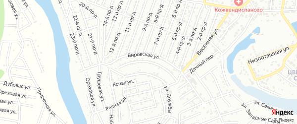 Клубничная улица на карте садового некоммерческого товарищества Надежды с номерами домов