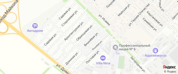 Клубничная улица на карте садового некоммерческого товарищества Звезды с номерами домов