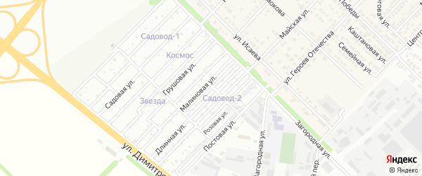 Клубничная улица на карте садового некоммерческого товарищества Садовода-1 с номерами домов