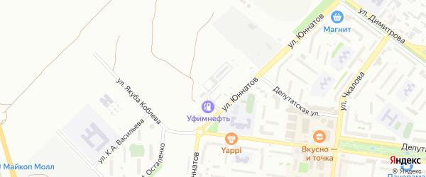 Улица К.А.Васильева на карте Майкопа с номерами домов