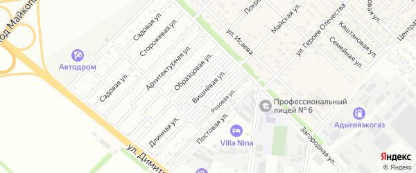 Виноградная улица на карте Западного поселка с номерами домов