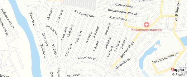 8-й проезд на карте садового некоммерческого товарищества Виктории с номерами домов