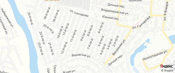 8-й проезд на карте садового некоммерческого товарищества Проектировщика с номерами домов