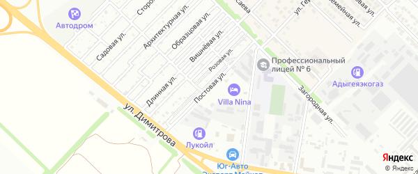 Постовая улица на карте Майкопа с номерами домов