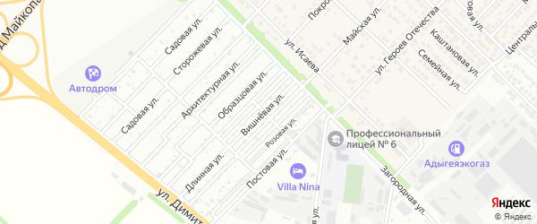 Длинная улица на карте садового некоммерческого товарищества Садовода-2 с номерами домов