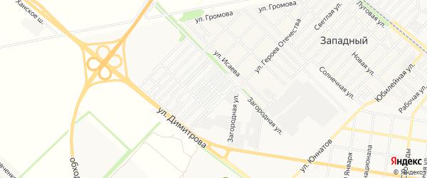 Карта садового некоммерческого товарищества Садовода-2 города Майкопа в Адыгее с улицами и номерами домов