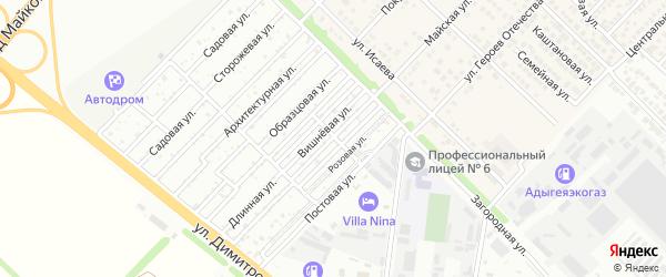Вишневая улица на карте садового некоммерческого товарищества Садовода-2 с номерами домов