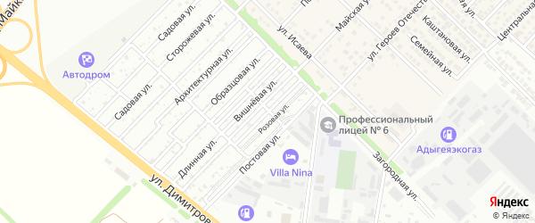 Фруктовая улица на карте садового некоммерческого товарищества Пищевика-1 с номерами домов