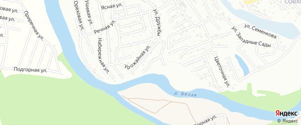 Вишневый переулок на карте садового некоммерческого товарищества Дружбы с номерами домов