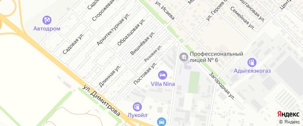 Восточная улица на карте садового некоммерческого товарищества Садовода-2 с номерами домов