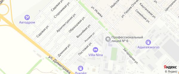 Розовая улица на карте садового некоммерческого товарищества Садовода-2 с номерами домов
