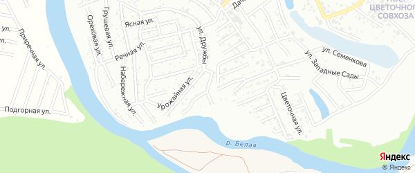 Вишневая улица на карте садового некоммерческого товарищества Деметры с номерами домов